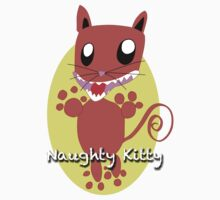 Naughty Kitty Kids Tee