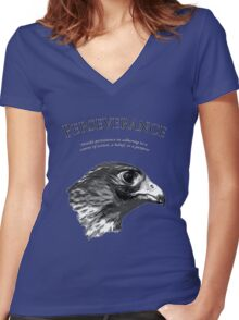Peregrine Falcon Women's Fitted V-Neck T-Shirt