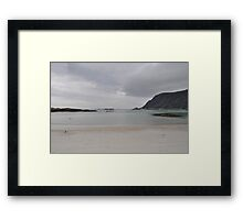 A grey day on a beautiful island. Framed Print