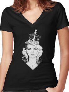 Debbie Harry Women's Fitted V-Neck T-Shirt