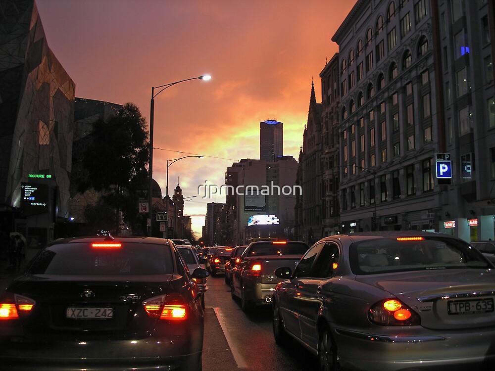 Melbourne CBD dusk by rjpmcmahon