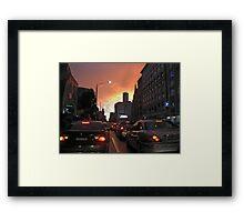 Melbourne CBD dusk Framed Print