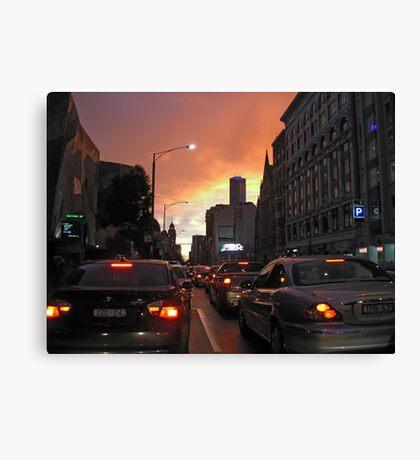 Melbourne CBD dusk Canvas Print