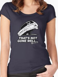 """Top Gear - Reliant Robin """"That's not gone well.."""" Women's Fitted Scoop T-Shirt"""