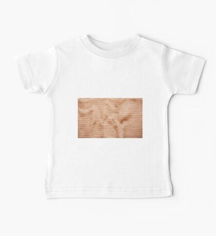 Beige fluffy knitted fabric texture  Baby Tee