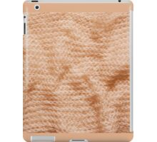 Beige fluffy knitted fabric texture  iPad Case/Skin