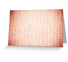 Sepia fluffy knitted fabric texture Greeting Card