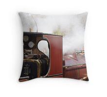 A day on a Steam Train Throw Pillow