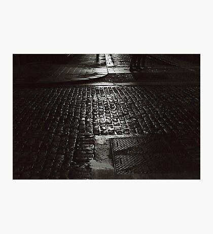 Cobbled crossing Photographic Print