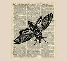 Moth Insect,Fly over Dictionary Page Unisex T-Shirt