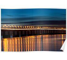 Severn Bridge Light Trails Poster