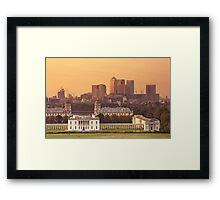 Maritime Greenwich and the Isle of Dogs Framed Print