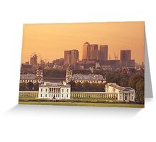 Maritime Greenwich and the Isle of Dogs Greeting Card