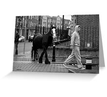 Walking the horse Greeting Card