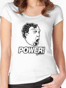 Top Gear - Jeremy Clarkson POWER!! Women's Fitted Scoop T-Shirt