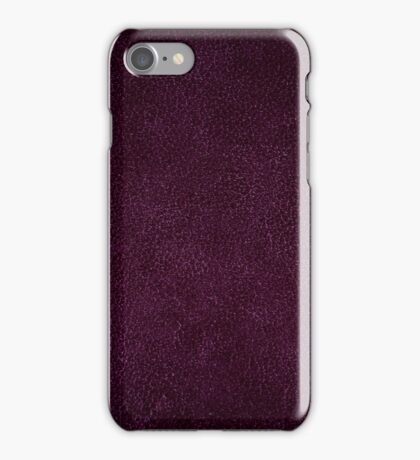Dark purple leather sheet texture abstract iPhone Case/Skin