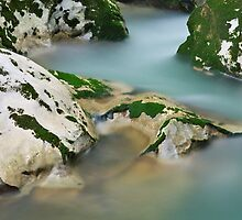 Silky water in Cheran river by Patrick Morand