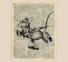 Running Mouse Over Old Book Page Unisex T-Shirt