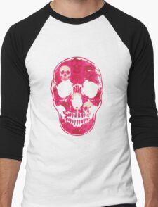 Saccharine Skulls Men's Baseball ¾ T-Shirt