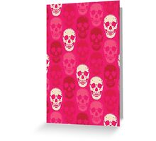 Saccharine Skulls Greeting Card