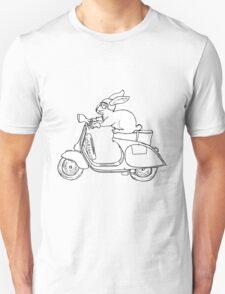 Vespa Rabbit Unisex T-Shirt