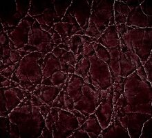 Dark frayed leather texture abstract by Arletta Cwalina