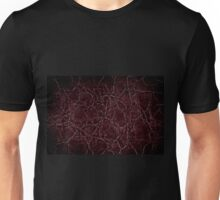 Dark frayed leather texture abstract Unisex T-Shirt
