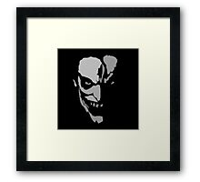 Silver Scary Face Framed Print
