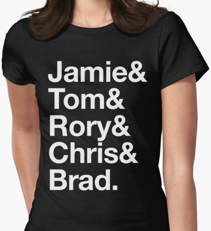 Jamie and the Bearded Choirboys Womens Fitted T-Shirt