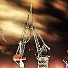 Idle Cranes at Helsinki Harbor by Juhana Tuomi