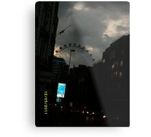 London: Famous Sights: London Eye -(270111)- Digital photo Metal Print