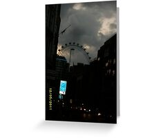 London: Famous Sights: London Eye -(270111)- Digital photo Greeting Card