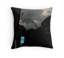 London: Famous Sights: London Eye -(270111)- Digital photo Throw Pillow