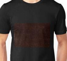 Dark brown striped parchment abstract Unisex T-Shirt