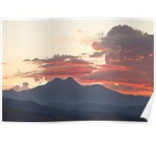 Twin Peaks Longs Meeker August Sunset 2 Poster