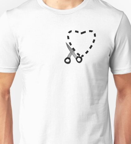 Cut Here for Heart Unisex T-Shirt