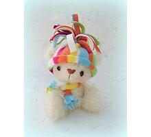Ping the Polar Bear - Handmade bears from Teddy Bear Orphans Photographic Print