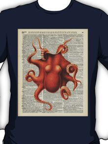 Octopus Dictionary Page Art T-Shirt