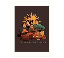 The Breakfast Gang Art Print