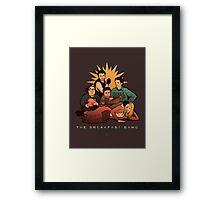 The Breakfast Gang Framed Print