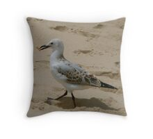 Smoking Seagull Throw Pillow