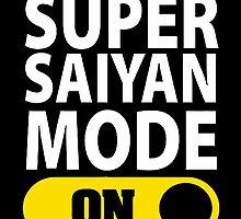 SUPER SAIYAN MODE ON by Shabiya