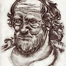 etching old man 1 by Joanna Fountain