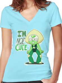 I'M NOT CUTE Women's Fitted V-Neck T-Shirt