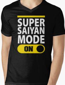 SUPER SAIYAN MODE ON Mens V-Neck T-Shirt