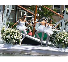 dancing on white boat Photographic Print