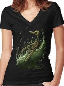 Death Penguin Women's Fitted V-Neck T-Shirt