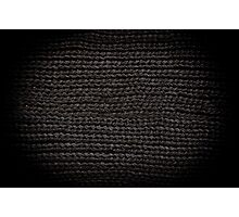 Black knitted fabric texture  Photographic Print