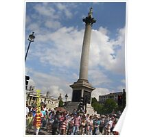 London: Famous Sights: Nelson's Column/Trafalgar Square -(05/08/11)- Digital photo Poster