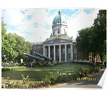 London: Famous Buildings: Imperial War Museum -(120511)- Digital photo Poster